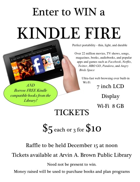 KINDLE RAFFLE!