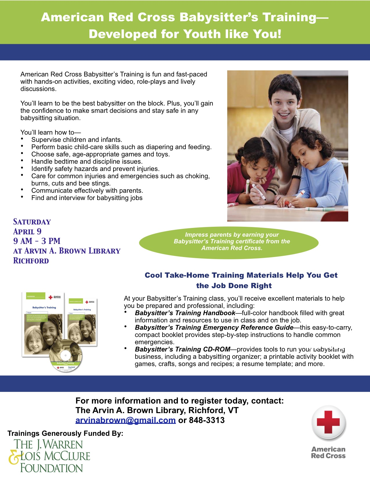 Red cross babysitting training access arvin a xflitez Images