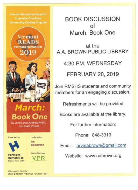 MARCH: BOOK ONE - VERMONT READS 2019